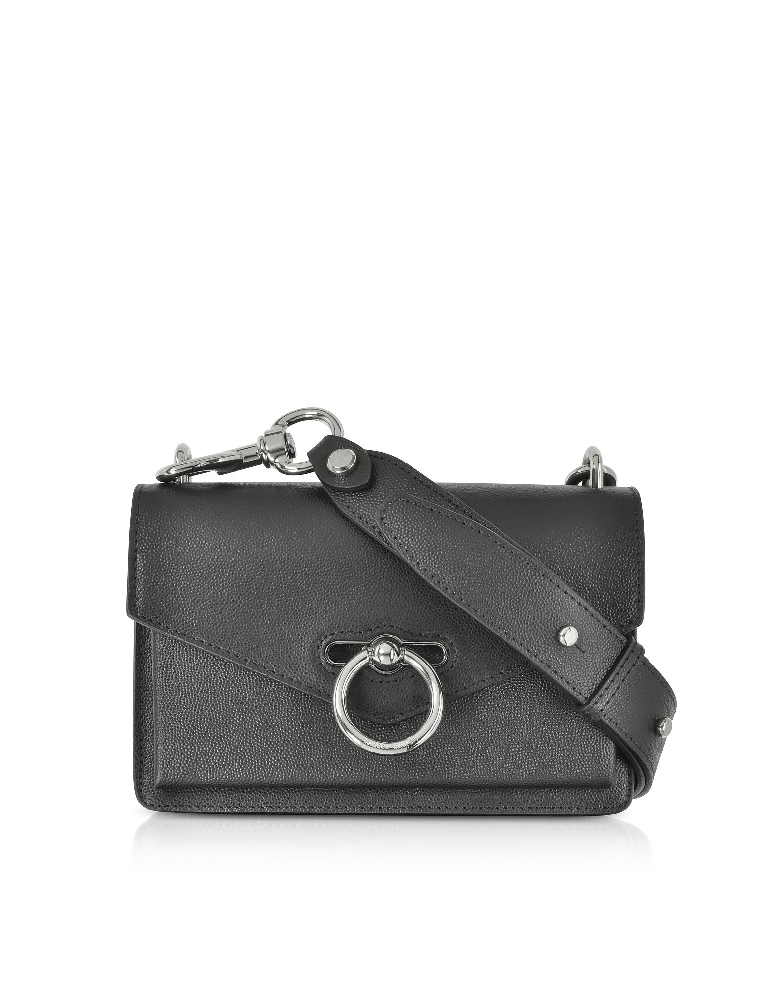Rebecca Minkoff Handbags, Black Caviar Leather Jean Xbody Bag