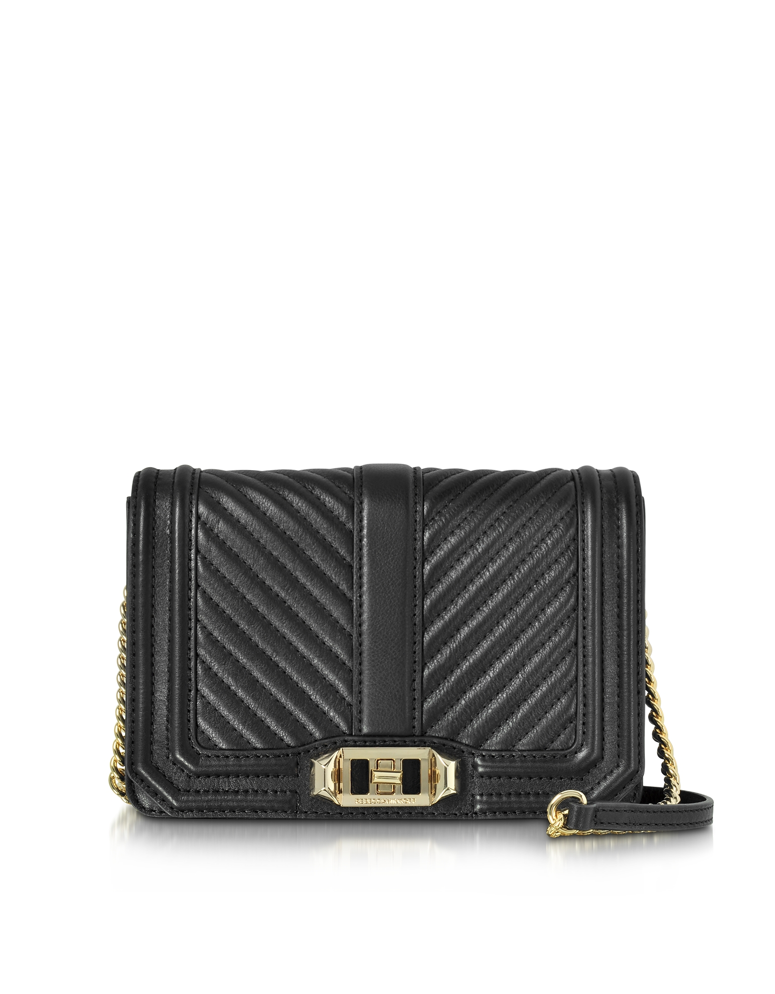 Rebecca Minkoff Handbags, Black Quilted Leather Small Love Crossbody Bag