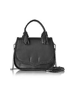 Black Leather Chase Large Saddle Bag - Rebecca Minkoff