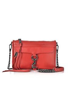 Blood Orange Leather Mini M.A.C. Crossbody Bag - Rebecca Minkoff