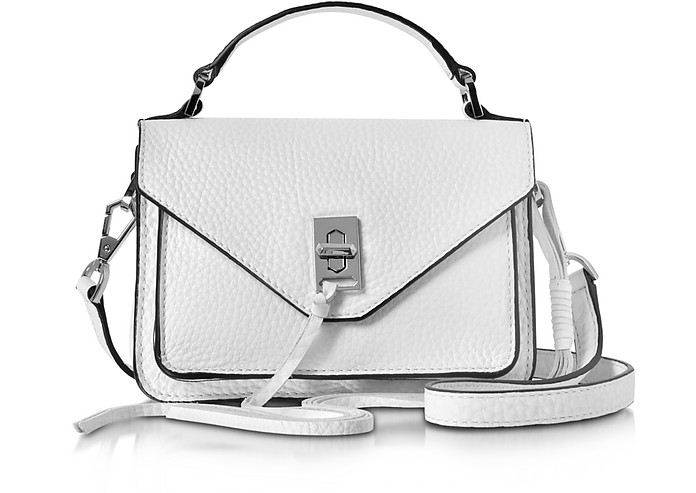 Optic White Leather Mini Darren Messenger Bag - Rebecca Minkoff