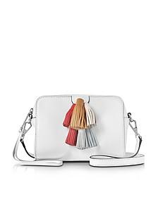 Pom Pom Optic White Leather Mini Sofia Crossbody - Rebecca Minkoff