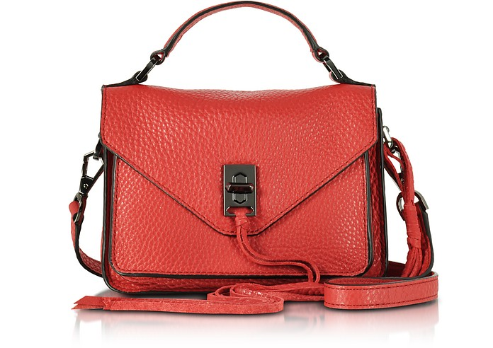 Blood Orange Leather Mini Darren Messenger Bag - Rebecca Minkoff