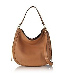 Almond Leather Unlined Convertible Hobo Bag w/Whipstiching - Rebecca Minkoff