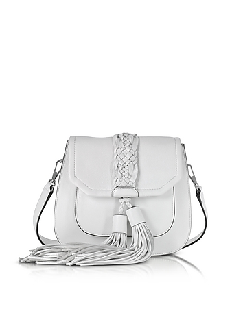 Rebecca Minkoff - Isobel Optic White Front Pocket Saddle Bag
