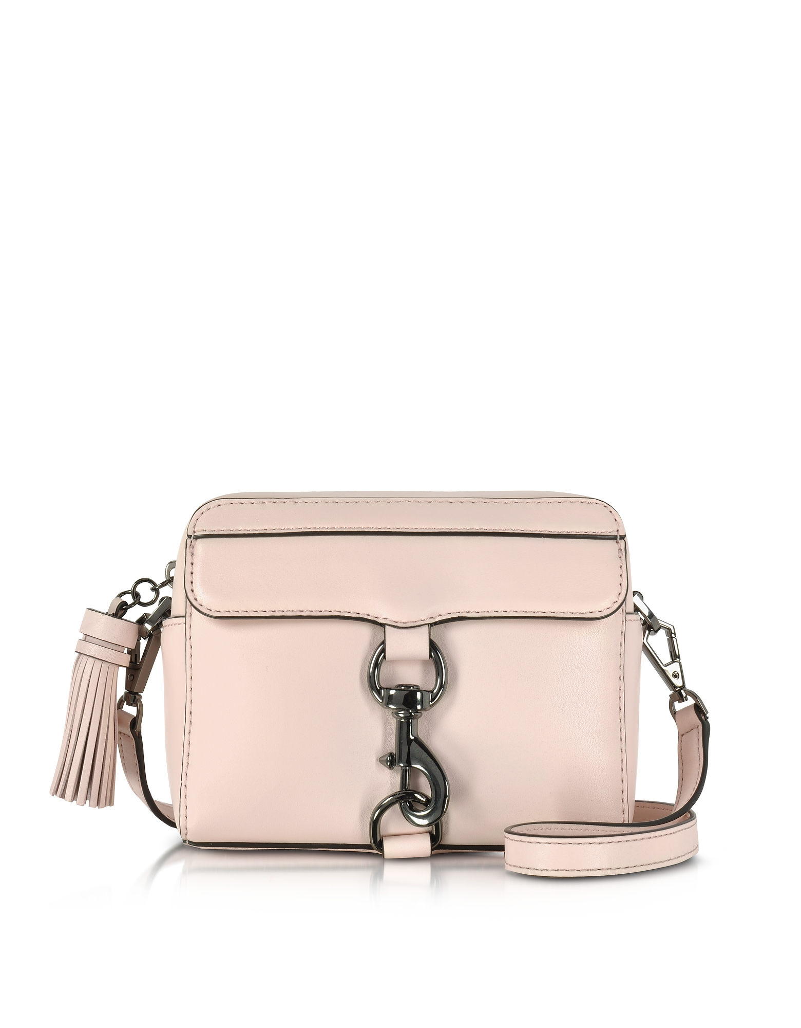 Фото MAB Bag - Мягкая Светло-розовая Кожаная Сумка Через Плечо. Купить с доставкой