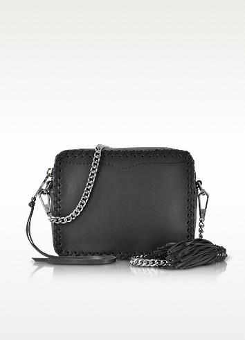 Black Leather Chase Camera Crossbody Bag - Rebecca Minkoff
