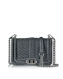 Dark Denim Quilted Small Love Crossbody Bag - Rebecca Minkoff