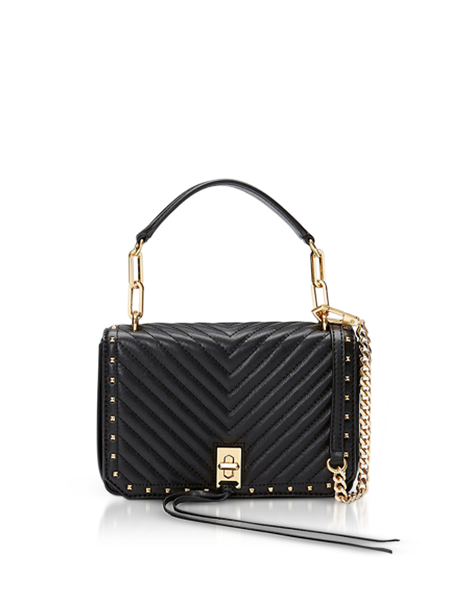 Black Nappa Leather Small Becky Crossbody