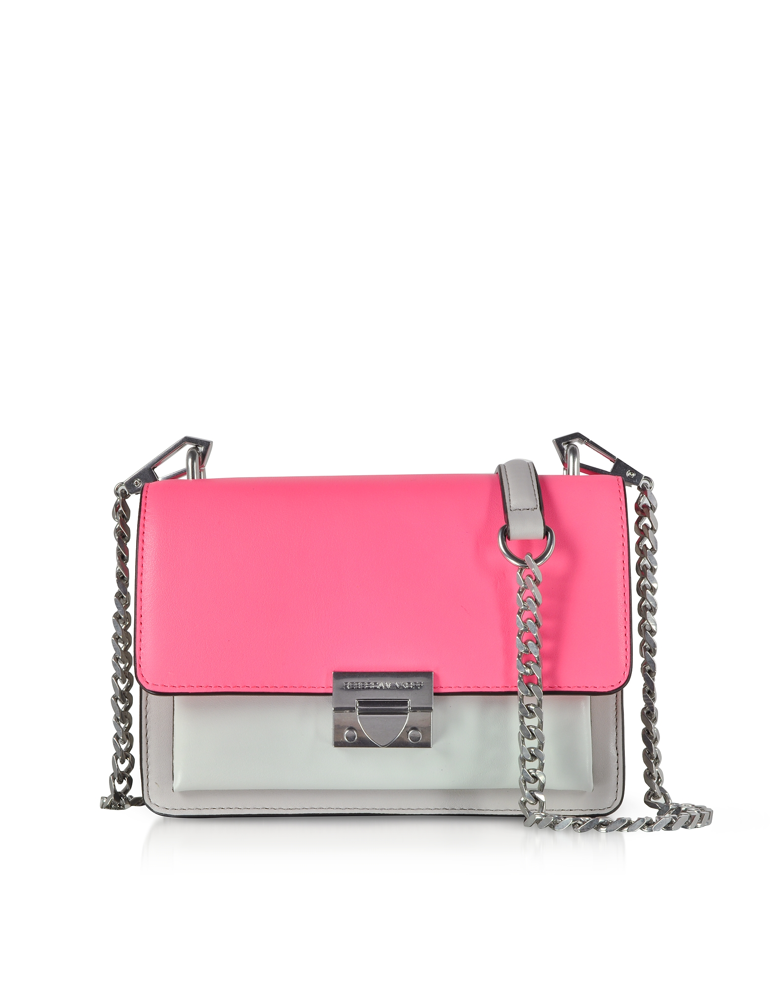 Color-Block Leather Christy Small Crossbody