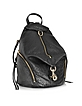 Black Pebbled Leather Julian Backpack - Rebecca Minkoff