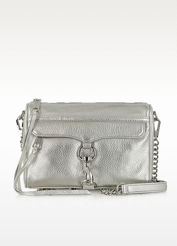 Mini M.A.C. Silver Leather Clutch - Rebecca Minkoff