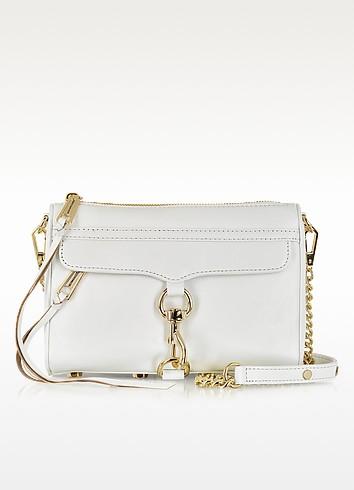 Mini M.A.C. White Leather Clutch - Rebecca Minkoff