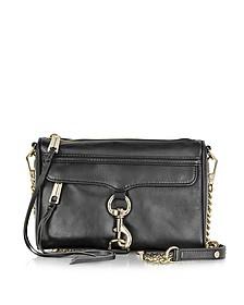 Black Leather Mini MAC Crossbody Bag - Rebecca Minkoff
