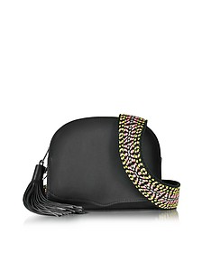 Black Leather Sunday Moon Crossbody Bag - Rebecca Minkoff