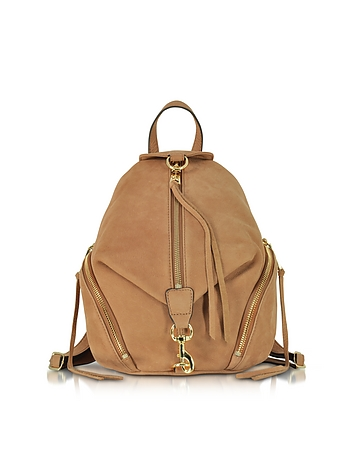 Rebecca Minkoff - Almond Nubuck Medium Julian Backpack