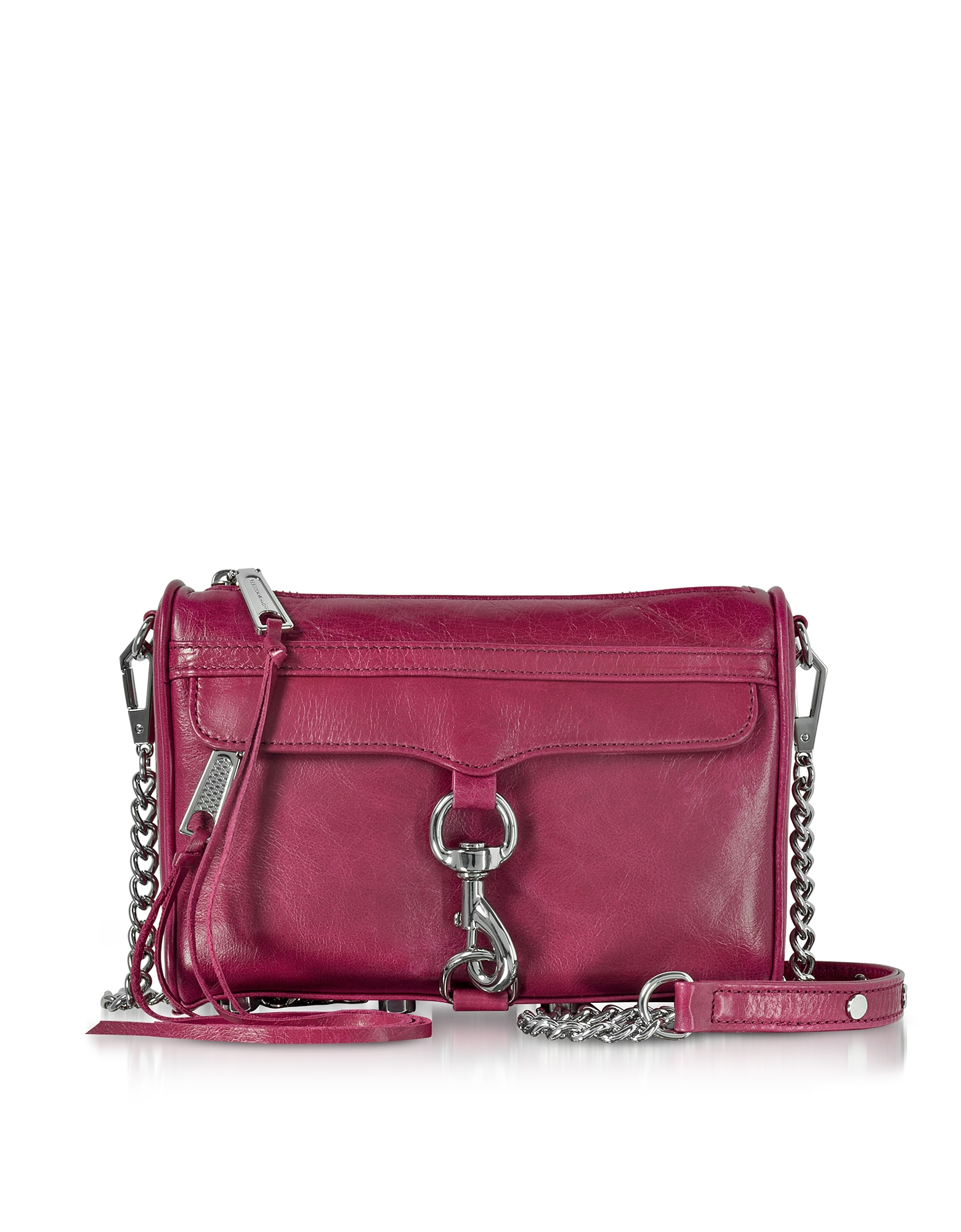 Rebecca Minkoff Mini M.A.C. Beet Distressed Leather Crossbody Bag