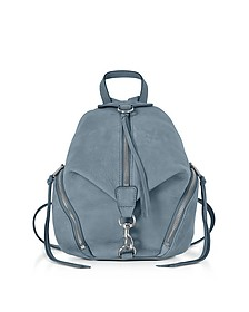 Julian Dusty Medium Rucksack aus Nubuck in blau - Rebecca Minkoff