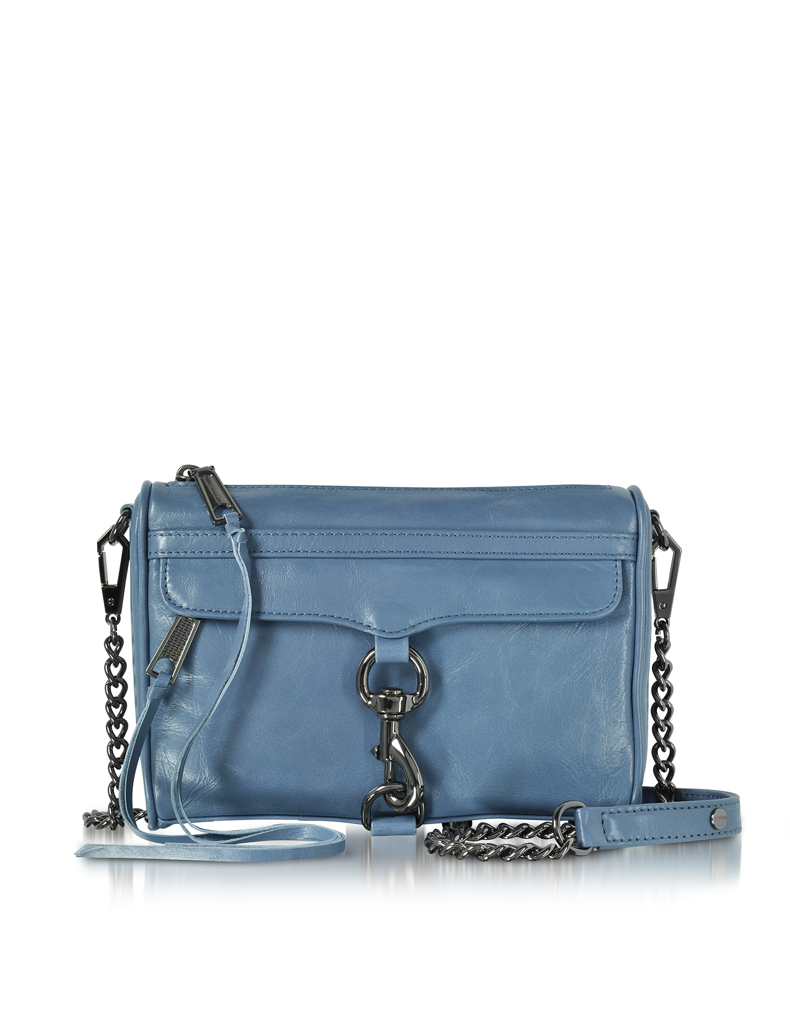 Rebecca Minkoff Mini M.A.C. Azure Distressed Leather Crossbody Bag