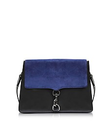 M.A.B. Moon Leather and Suede Large Shoulder Bag - Rebecca Minkoff