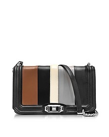 Black and Almond Leather Small Love Crossbody Bag - Rebecca Minkoff