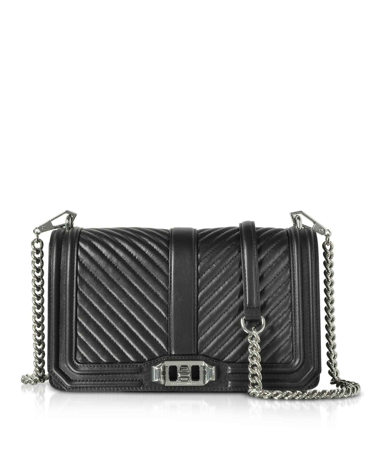 Rebecca Minkoff Handbags, Black Quilted Leather Love Crossbody Bag