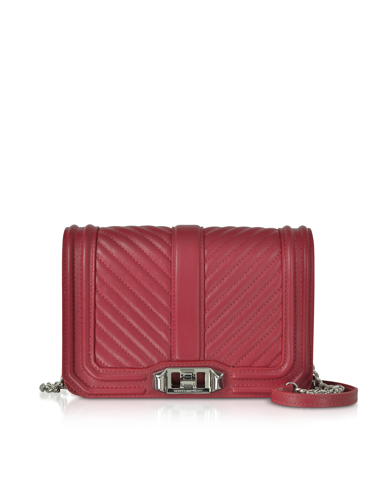Rebecca Minkoff Handbags, Small Quilted Leather Love Crossbody Bag