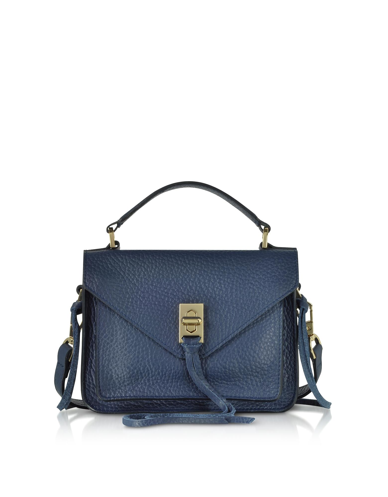 Glossy Leather Mini Darren Messenger Bag