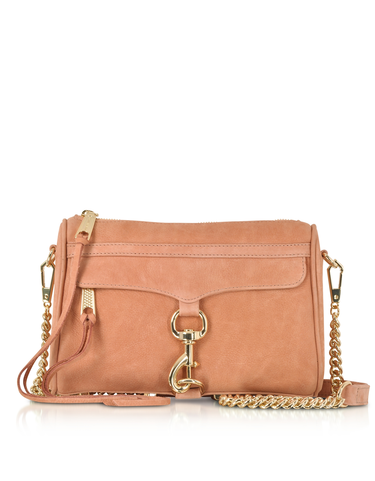 Rebecca Minkoff Handbags, Dusty Peach Leather Mini M.A.C. Crossbody Bag