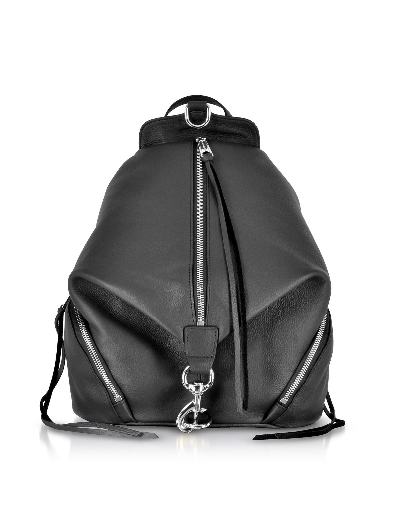 Balck Leather Julian Backpack