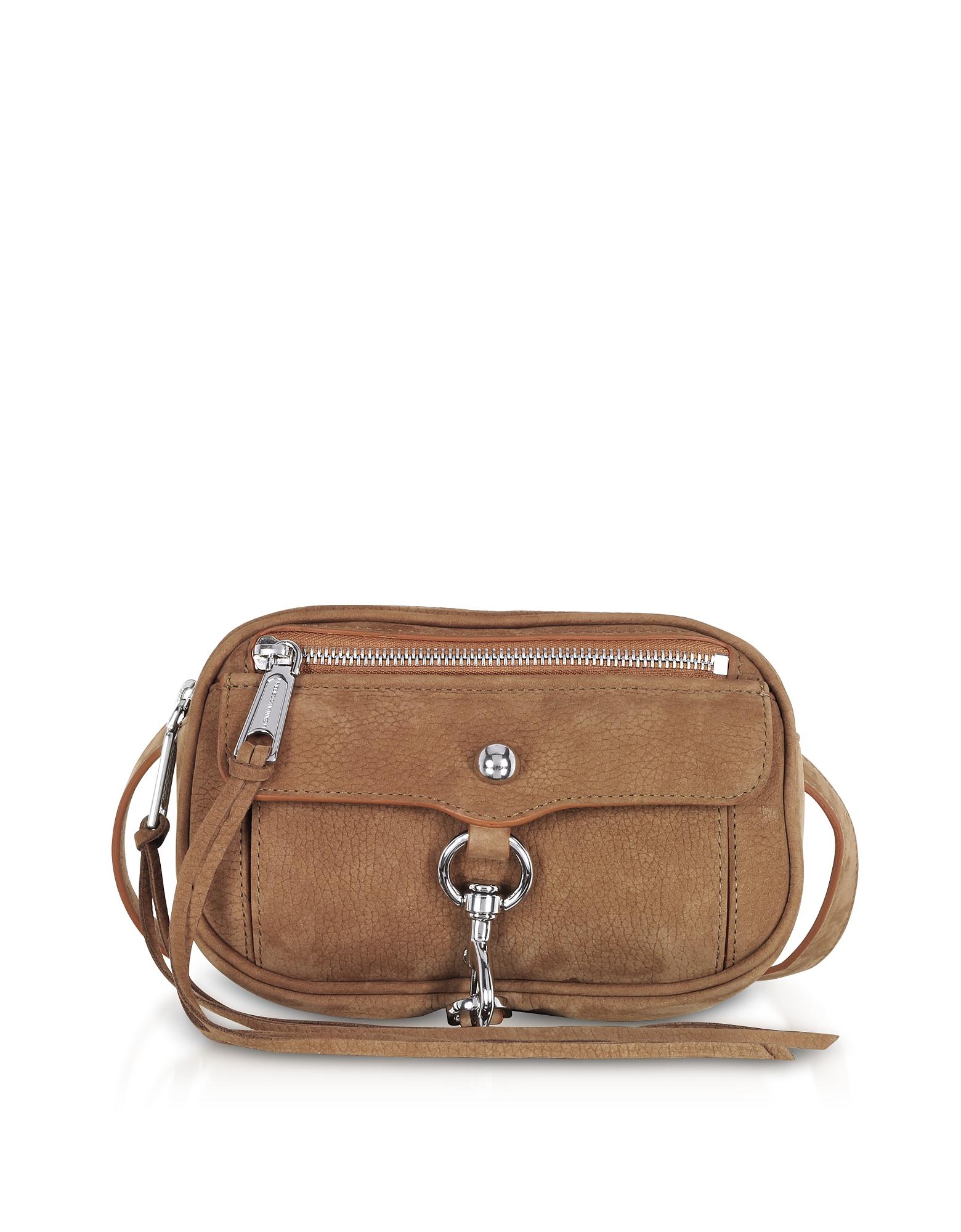 Image of Rebecca Minkoff Designer Handbags, Almond Leather Blythe Belt Bag