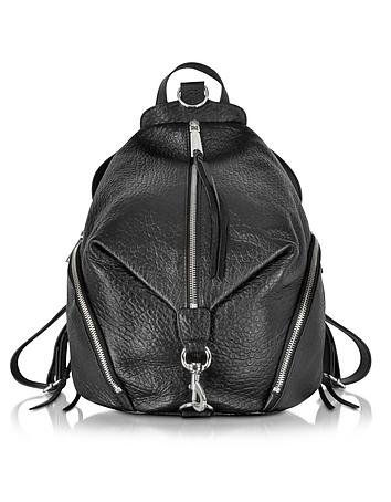 Black Leather Julian Backpack