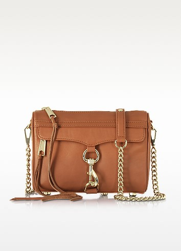 Mini Mac Amond Leather Crossbody Bag - Rebecca Minkoff