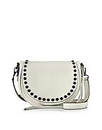 Rebecca Minkoff Unlined Saddle Bag Borsa con Tracolla in Pelle Antique White - rebecca minkoff - it.forzieri.com