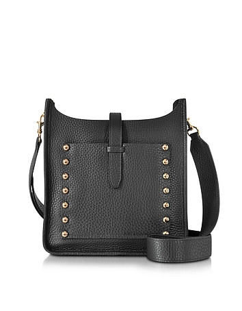 Black Leather Small Unlined Feedbag rm130416-028-00