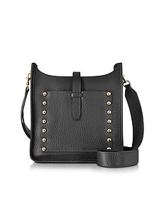 Black Leather Small Unlined Feedbag - Rebecca Minkoff