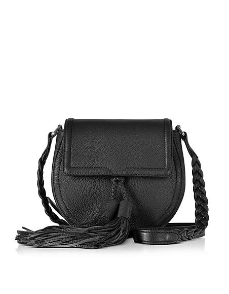 Foto Rebecca Minkoff Isobel Saddle Bag Borsa in Pelle nera con Nappine Borse donna