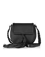 Rebecca Minkoff Isobel Saddle Bag Borsa in Pelle nera con Nappine - rebecca minkoff - it.forzieri.com