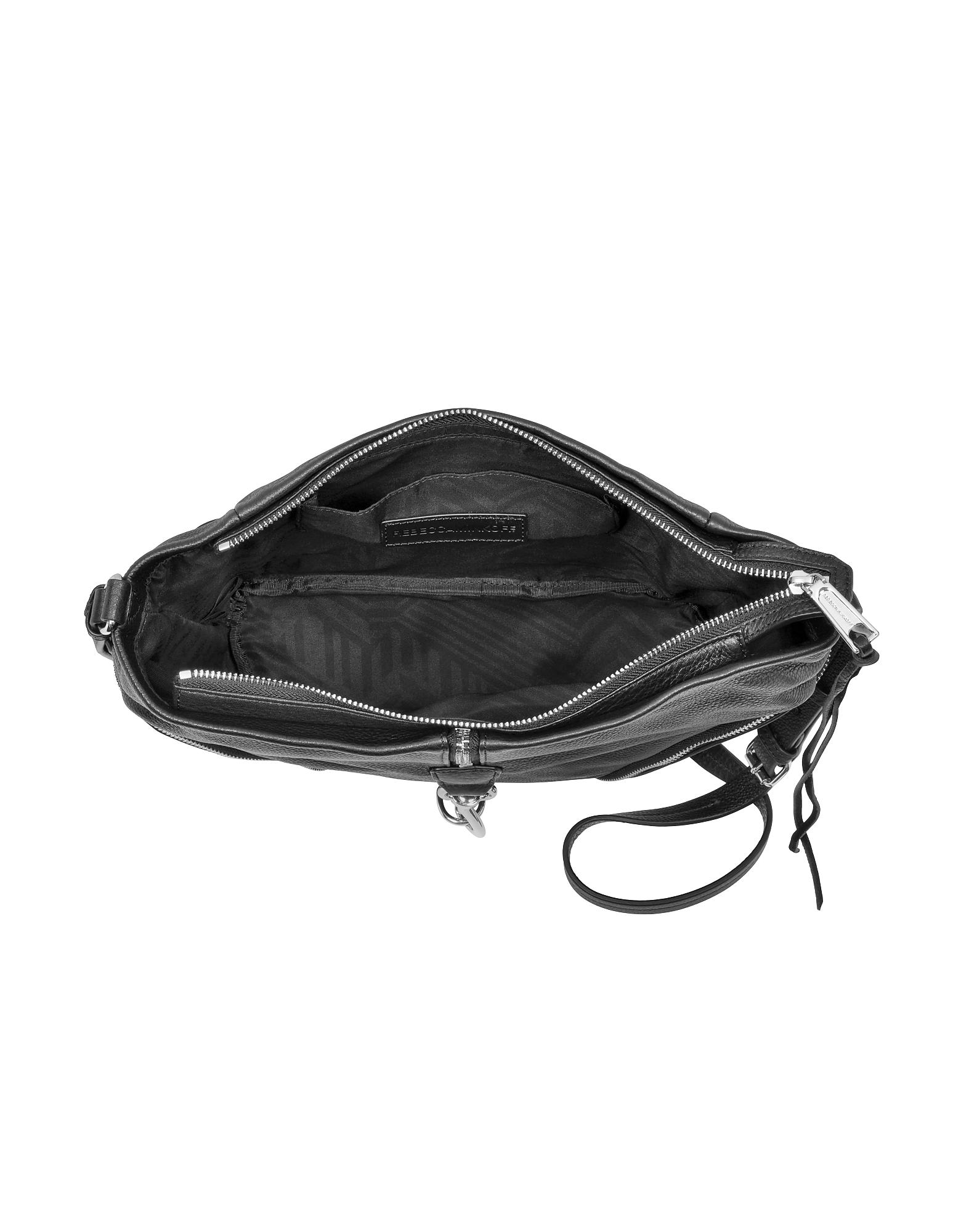 Black Pebbled Cowhide leather Julian Messenger Bag от Forzieri.com INT