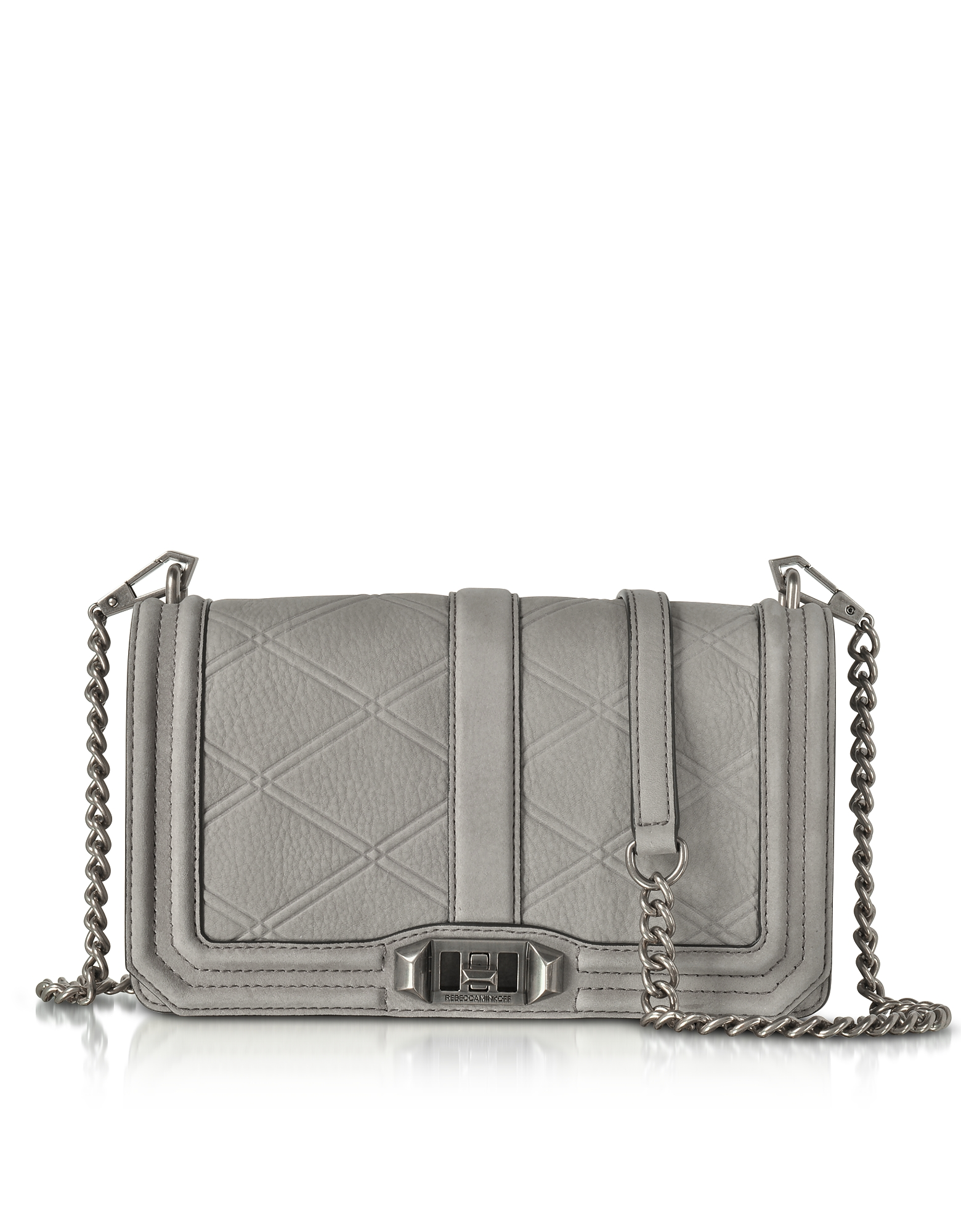 Rebecca Minkoff Embossed Nubuck Love Crossbody Bag