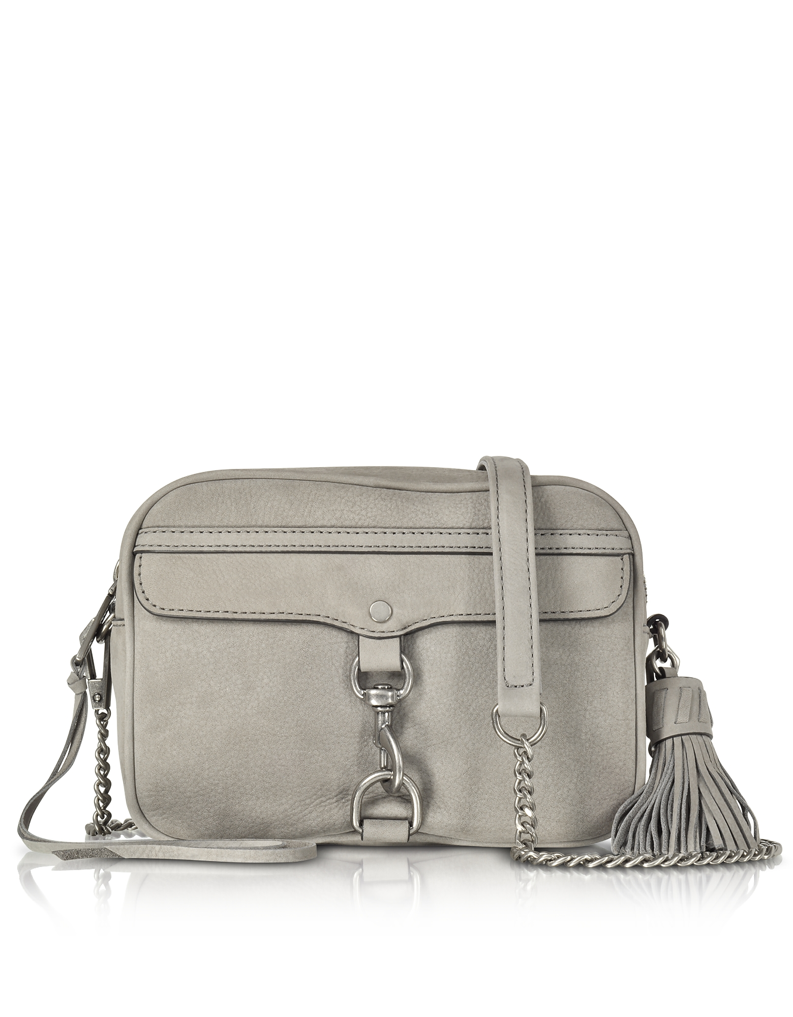 Rebecca Minkoff Gray Nubuck Large M.A.B. Camera Bag