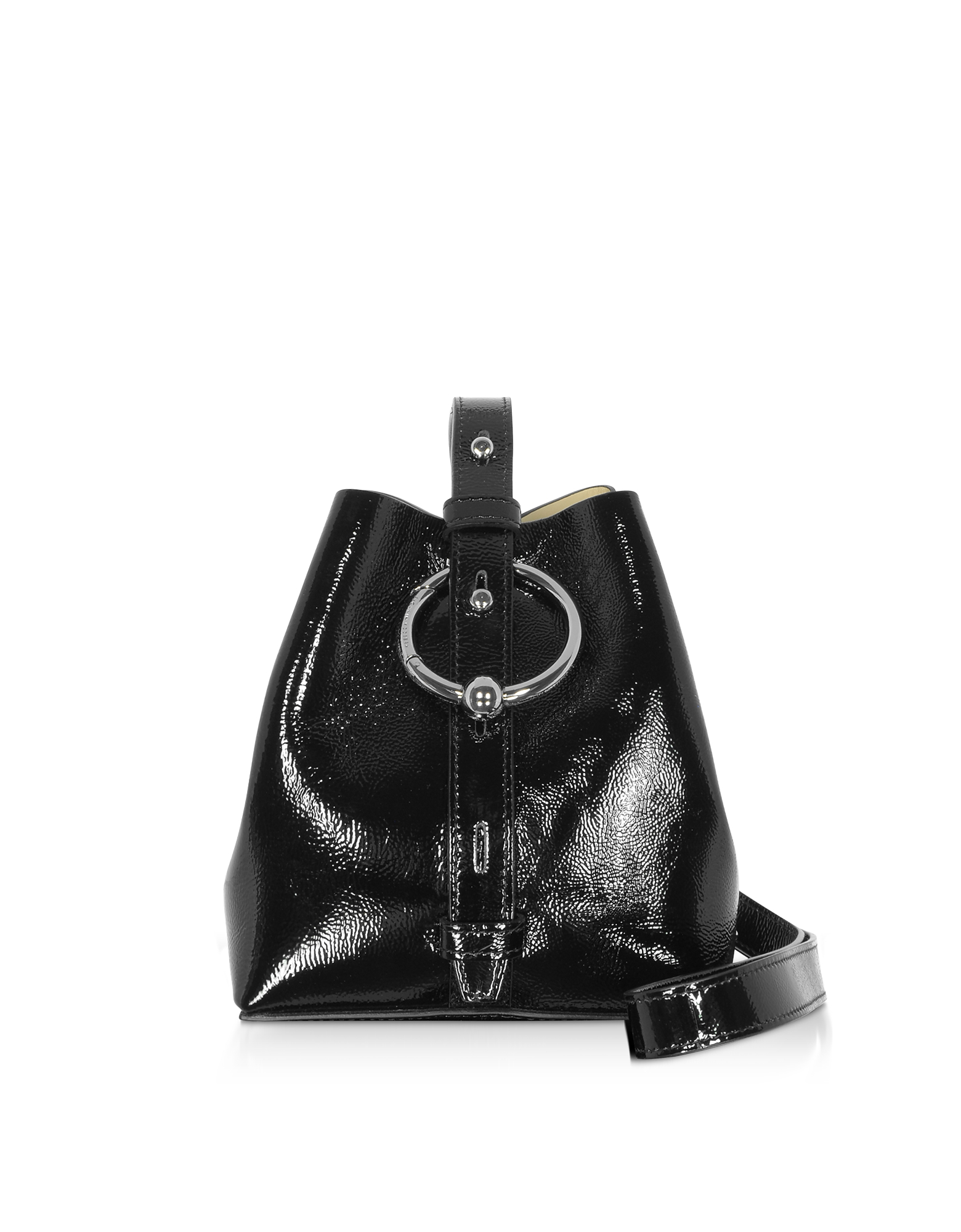 Rebecca Minkoff Designer Handbags, Naplack Leather Mini Kate Bucket Bag