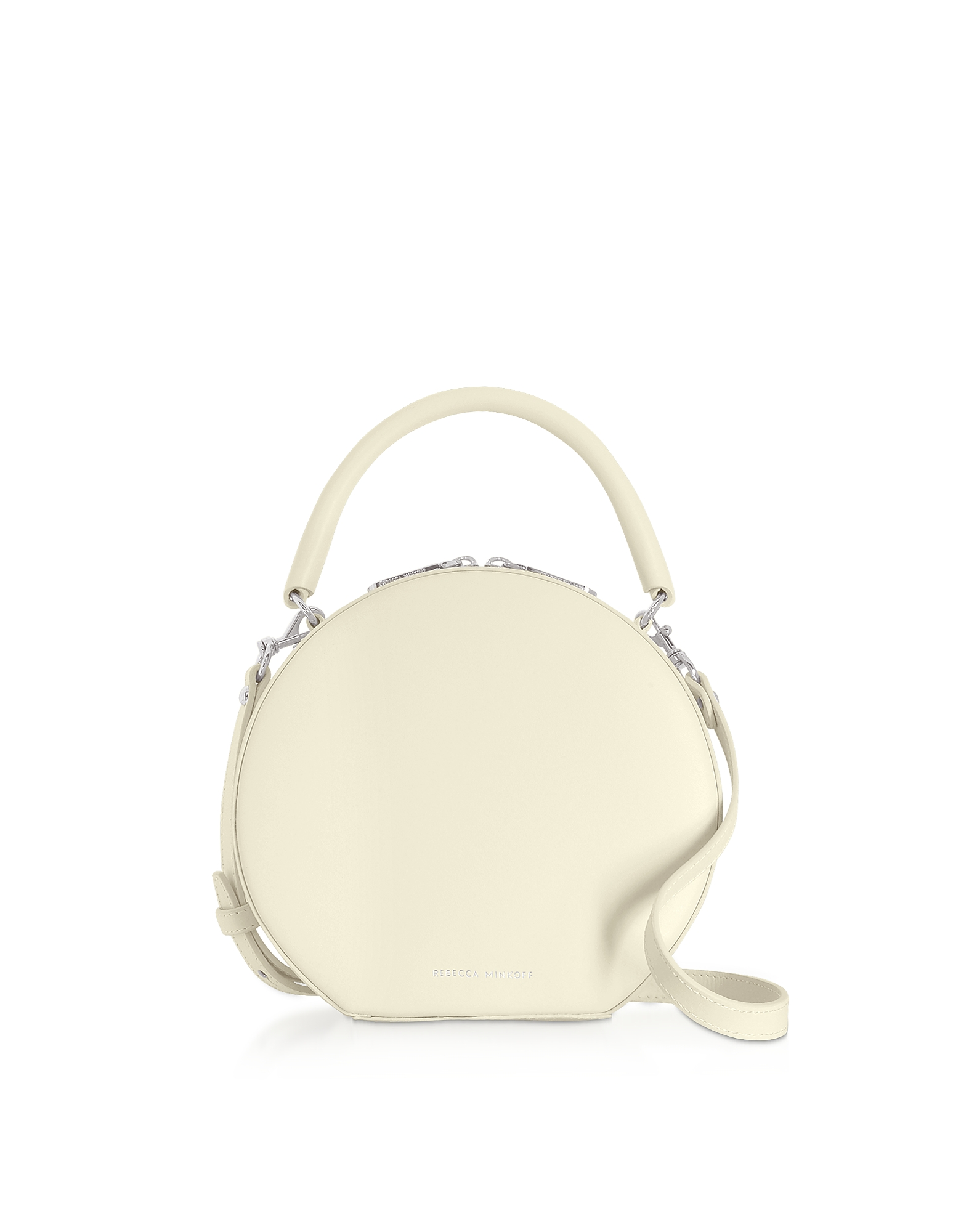 Nappa Leather Circle Crossbody Bag, Clay