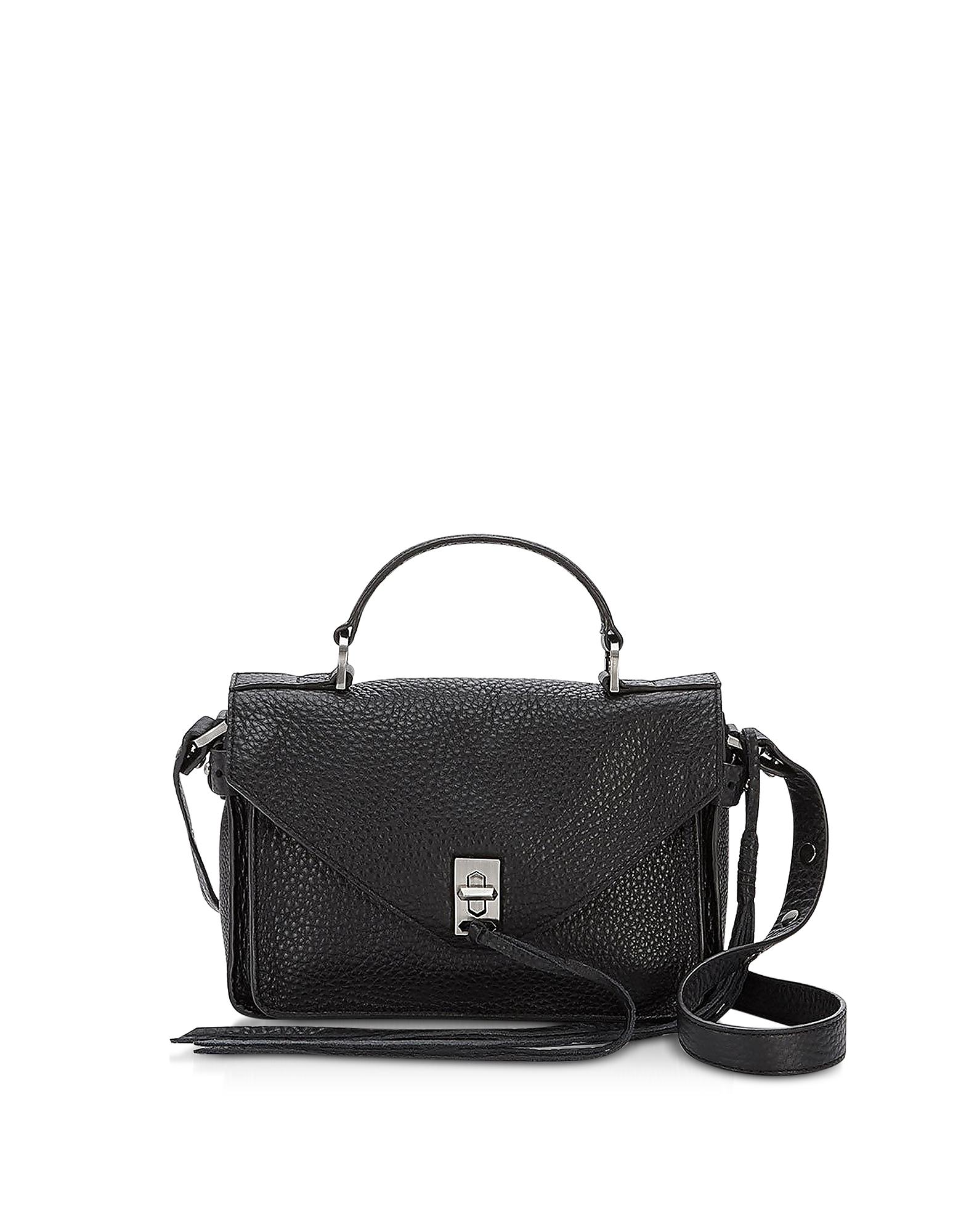 Pebble Leather Mini Darren Messenger Bag