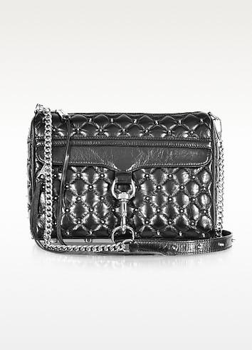 MAC - Spiked Leather Shoulder Bag  - Rebecca Minkoff