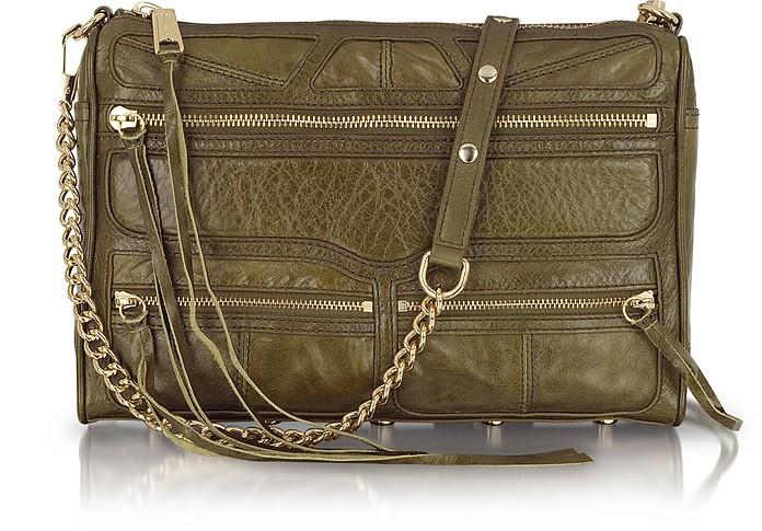 MAC Tri Zip Leather Shoulder Bag - Rebecca Minkoff