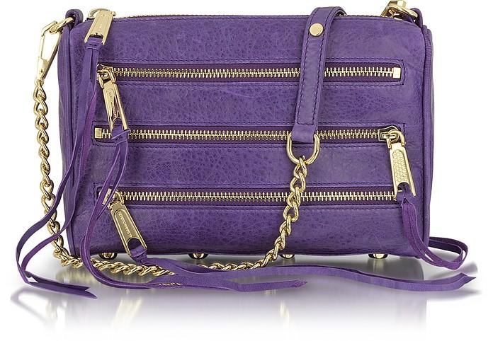 Mini 5 Zip Leather Clutch/Shoulder Bag - Rebecca Minkoff