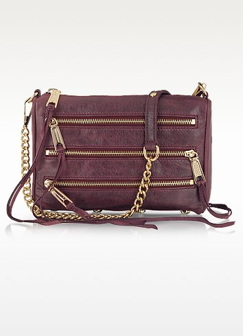 Mini 5 Zip Leather Clutch/Shoulder Bag - Rebecca Minkoff