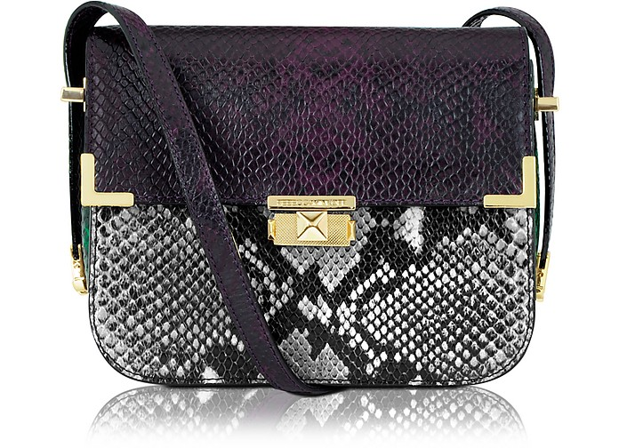 Snake-Embossed Kiss Kiss Shoulder Bag - Rebecca Minkoff
