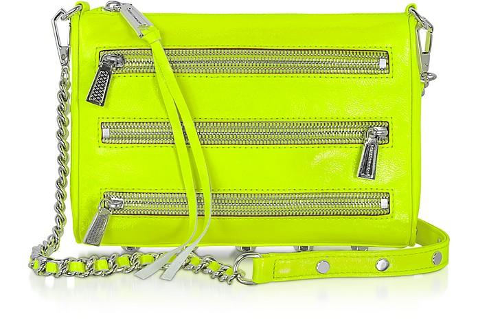 Mini 5 Zip - Fluo Patent Leather Clutch/Shoulder Bag - Rebecca Minkoff